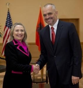 Hillary Rodham Clinton, Edi Rama