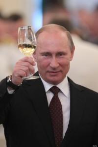 Vladimir Putin Attends Military Academy Reception