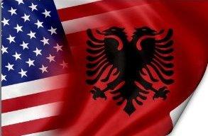 USA ALBANIAN FLAG