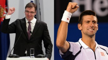 FOTO Imidž Srbije Nole i Vučić