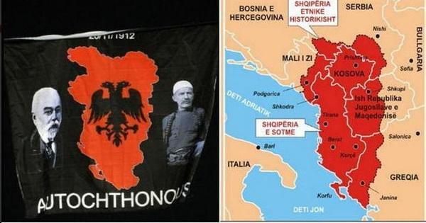 FOTO Velika Albanija a sve manja Srbija